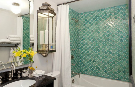 "Bathroom Title (Source:  Genevieve Gorder, as seen in ""Design*Sponge"""