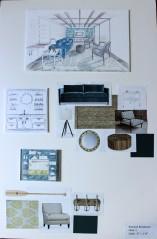 Living Room Drawings + Materials