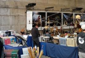 Record vendors @ Brooklyn Flea